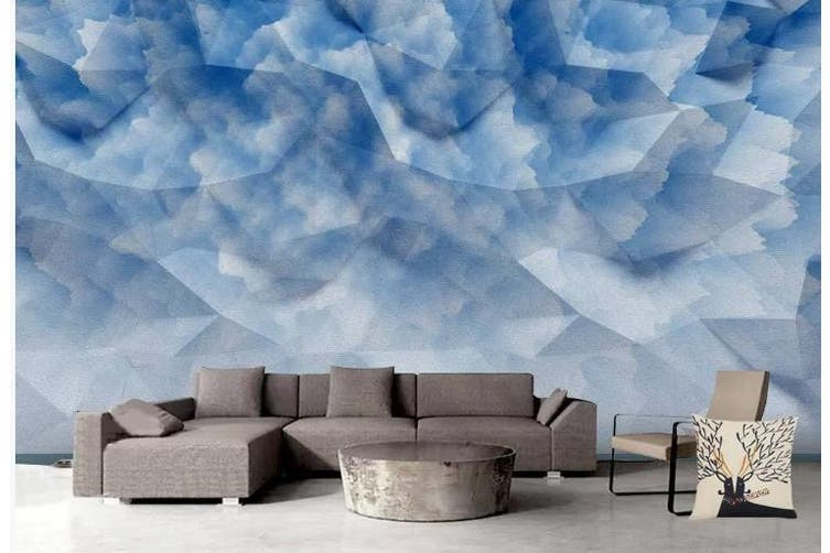 3D Solid Geometry Graphical Wall Mural Wallpaper  D82 Self-adhesive Laminated Vinyl-W: 525cm X H: 295cm