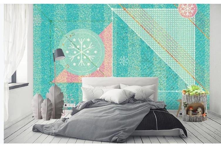 3D Retro Geometry Graphical Wall Mural Wallpaper  D81 Self-adhesive Laminated Vinyl-W: 525cm X H: 295cm