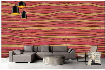 3D Color Stripes Background Wall Mural Wallpaper  D80 Self-adhesive Laminated Vinyl-W: 320cm X H: 225cm