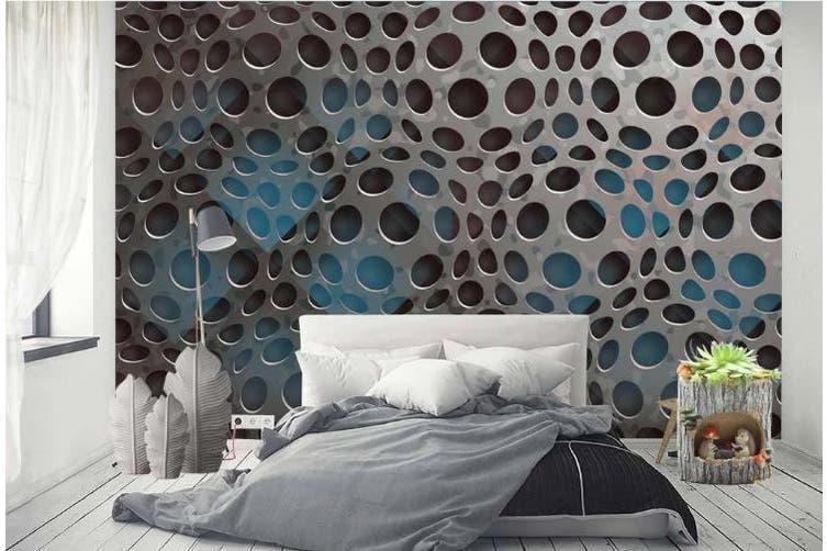 3D Metal Geometry Graphical Wall Mural Wallpaper  D78 Self-adhesive Laminated Vinyl-W: 210cm X H: 146cm