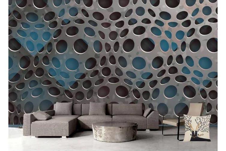 3D Metal Geometry Graphical Wall Mural Wallpaper  D78 Self-adhesive Laminated Vinyl-W: 320cm X H: 225cm