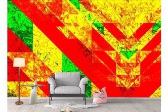 3D Color Geometry Graphical Wall Mural Wallpaper  D73 Self-adhesive Laminated Vinyl-W: 420cm X H: 260cm