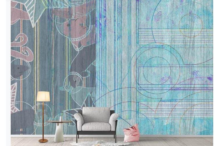 3D Retro Geometry Graphical Wall Mural Wallpaper  D72 Self-adhesive Laminated Vinyl-W: 420cm X H: 260cm