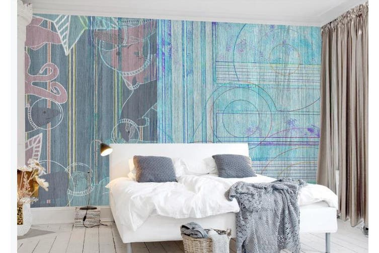 3D Retro Geometry Graphical Wall Mural Wallpaper  D72 Self-adhesive Laminated Vinyl-W: 525cm X H: 295cm