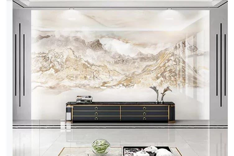 3D Marble Decorative Beautiful Floral Wall Mural Wallpaper  D70 Self-adhesive Laminated Vinyl-W: 210cm X H: 146cm