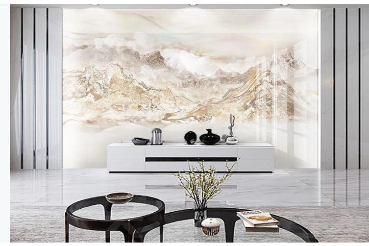 3D Marble Decorative Beautiful Floral Wall Mural Wallpaper  D70 Self-adhesive Laminated Vinyl-W: 420cm X H: 260cm