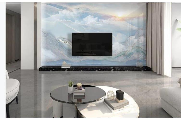 3D Marble Decorative Beautiful Floral Wall Mural Wallpaper  D69 Self-adhesive Laminated Vinyl-W: 210cm X H: 146cm