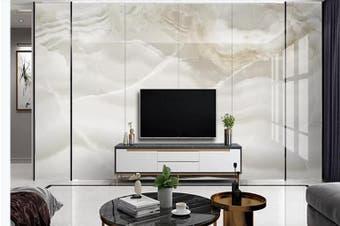 3D Marble Decorative Beautiful Floral Wall Mural Wallpaper  D68 Self-adhesive Laminated Vinyl-W: 210cm X H: 146cm
