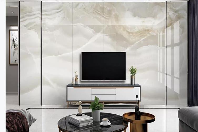 3D Marble Decorative Beautiful Floral Wall Mural Wallpaper  D68 Self-adhesive Laminated Vinyl-W: 420cm X H: 260cm