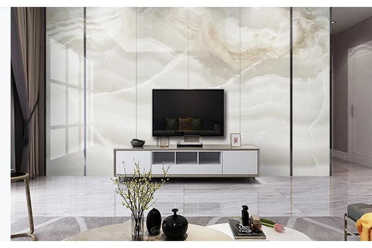 3D Marble Decorative Beautiful Floral Wall Mural Wallpaper  D68 Self-adhesive Laminated Vinyl-W: 525cm X H: 295cm
