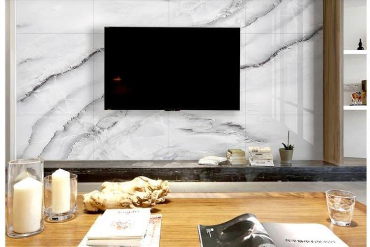 3D Marble Decorative Beautiful Floral Wall Mural Wallpaper  D67 Self-adhesive Laminated Vinyl-W: 210cm X H: 146cm