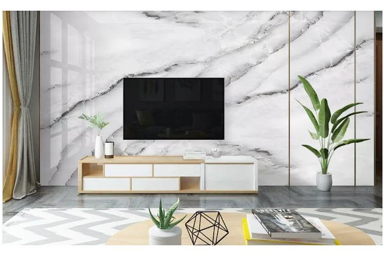 3D Marble Decorative Beautiful Floral Wall Mural Wallpaper  D67 Self-adhesive Laminated Vinyl-W: 525cm X H: 295cm