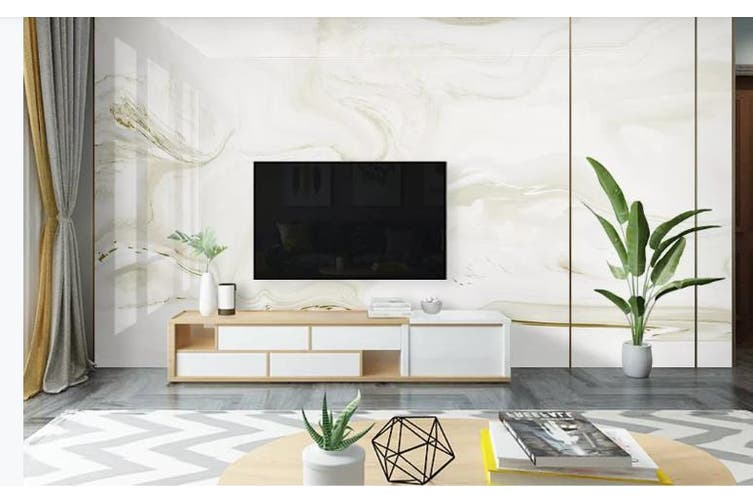 3D Marble Decorative Beautiful Floral Wall Mural Wallpaper  D66 Self-adhesive Laminated Vinyl-W: 210cm X H: 146cm