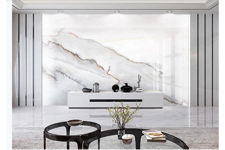3D Marble Decorative Beautiful Floral Wall Mural Wallpaper  D65 Self-adhesive Laminated Vinyl-W: 525cm X H: 295cm