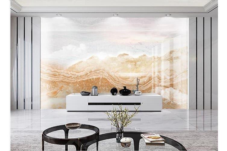 3D Marble Decorative Beautiful Floral Wall Mural Wallpaper  D62 Self-adhesive Laminated Vinyl-W: 210cm X H: 146cm