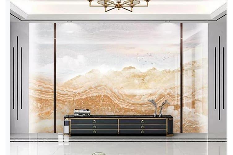 3D Marble Decorative Beautiful Floral Wall Mural Wallpaper  D62 Self-adhesive Laminated Vinyl-W: 525cm X H: 295cm