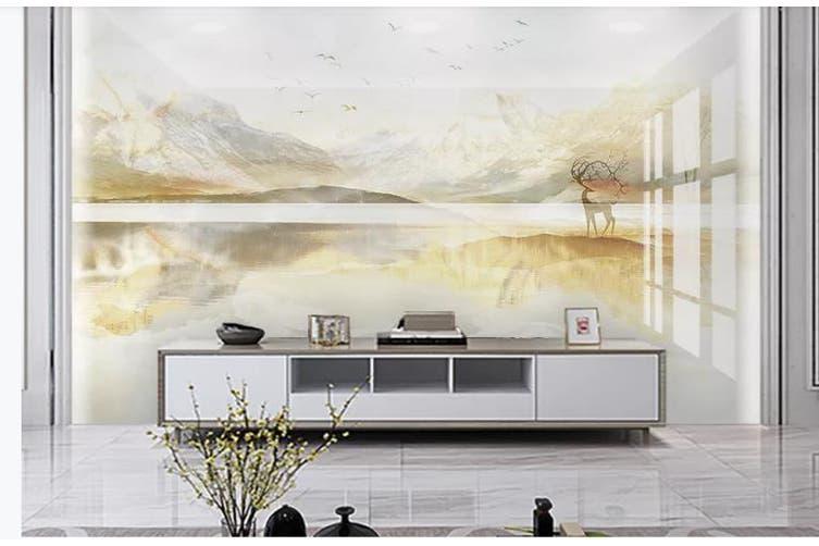 3D Marble Decorative Beautiful Floral Wall Mural Wallpaper  D61 Self-adhesive Laminated Vinyl-W: 210cm X H: 146cm