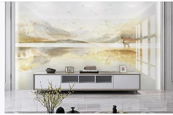3D Marble Decorative Beautiful Floral Wall Mural Wallpaper  D61 Self-adhesive Laminated Vinyl-W: 320cm X H: 225cm
