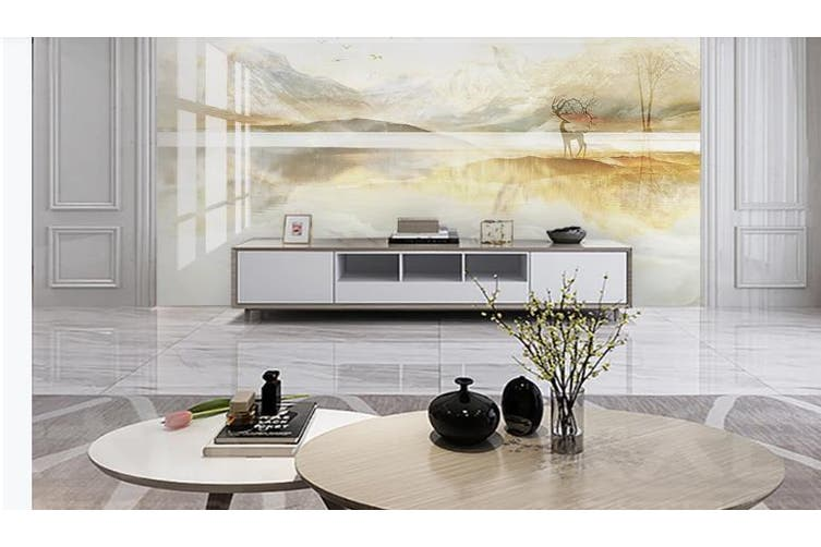 3D Marble Decorative Beautiful Floral Wall Mural Wallpaper  D61 Self-adhesive Laminated Vinyl-W: 420cm X H: 260cm
