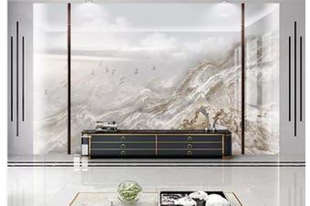 3D Marble Decorative Beautiful Floral Wall Mural Wallpaper  D60 Self-adhesive Laminated Vinyl-W: 420cm X H: 260cm