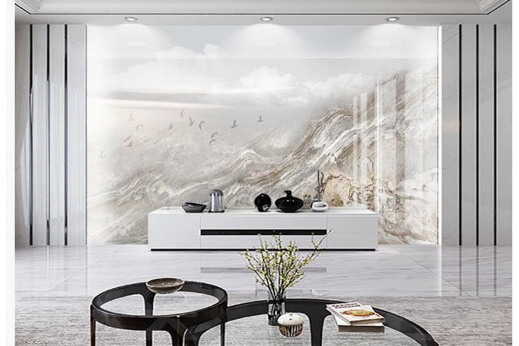 3D Marble Decorative Beautiful Floral Wall Mural Wallpaper  D60 Self-adhesive Laminated Vinyl-W: 525cm X H: 295cm