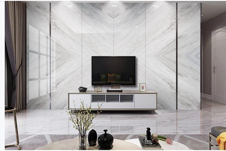 3D Marble Decorative Beautiful Floral Wall Mural Wallpaper  D58 Self-adhesive Laminated Vinyl-W: 320cm X H: 225cm