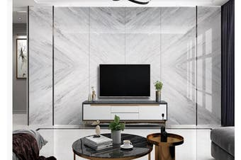 3D Marble Decorative Beautiful Floral Wall Mural Wallpaper  D58 Self-adhesive Laminated Vinyl-W: 420cm X H: 260cm