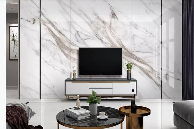 3D Marble Decorative Beautiful Floral Wall Mural Wallpaper  D57 Self-adhesive Laminated Vinyl-W: 320cm X H: 225cm