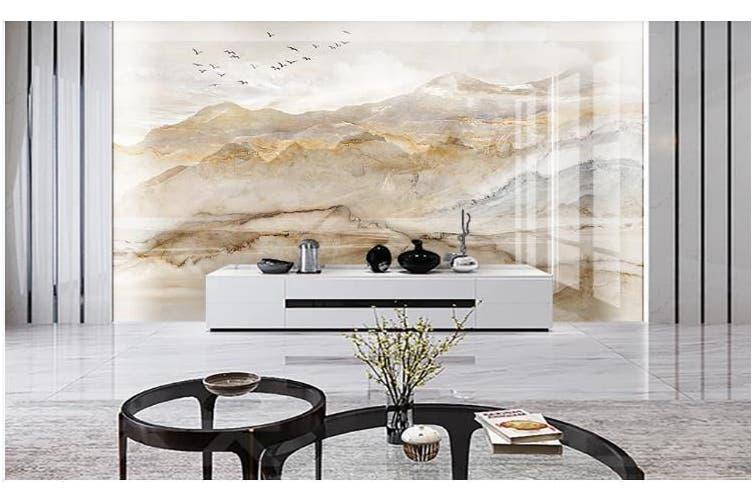 3D Marble Decorative Beautiful Floral Wall Mural Wallpaper  D56 Self-adhesive Laminated Vinyl-W: 320cm X H: 225cm