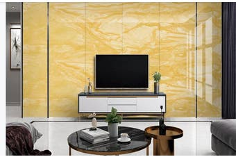 3D Marble Decorative Beautiful Floral Wall Mural Wallpaper  D55 Self-adhesive Laminated Vinyl-W: 320cm X H: 225cm