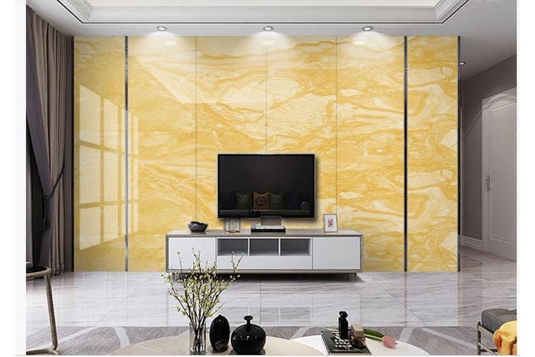 3D Marble Decorative Beautiful Floral Wall Mural Wallpaper  D55 Self-adhesive Laminated Vinyl-W: 420cm X H: 260cm