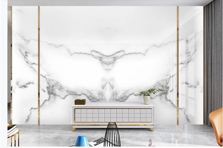 3D Marble Decorative Beautiful Floral Wall Mural Wallpaper  D54 Self-adhesive Laminated Vinyl-W: 420cm X H: 260cm