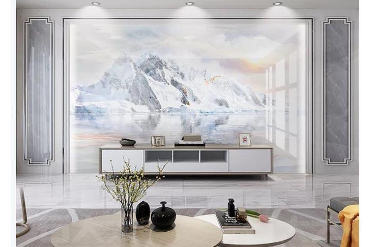 3D Marble Decorative Beautiful Floral Wall Mural Wallpaper  D53 Self-adhesive Laminated Vinyl-W: 420cm X H: 260cm