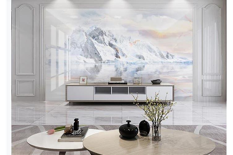 3D Marble Decorative Beautiful Floral Wall Mural Wallpaper  D53 Self-adhesive Laminated Vinyl-W: 525cm X H: 295cm