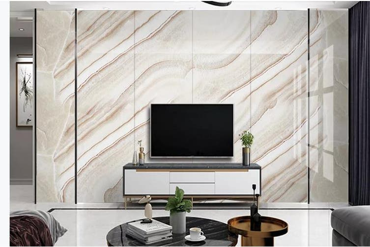 3D Marble Decorative Beautiful Floral Wall Mural Wallpaper  D52 Self-adhesive Laminated Vinyl-W: 210cm X H: 146cm