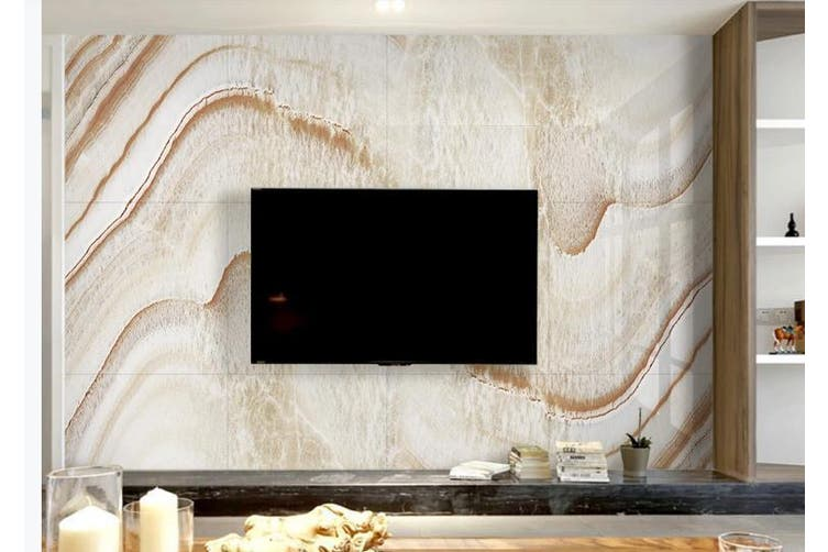 3D Marble Decorative Beautiful Floral Wall Mural Wallpaper  D51 Self-adhesive Laminated Vinyl-W: 210cm X H: 146cm