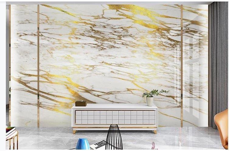 3D Marble Decorative Beautiful Floral Wall Mural Wallpaper  D50 Self-adhesive Laminated Vinyl-W: 210cm X H: 146cm