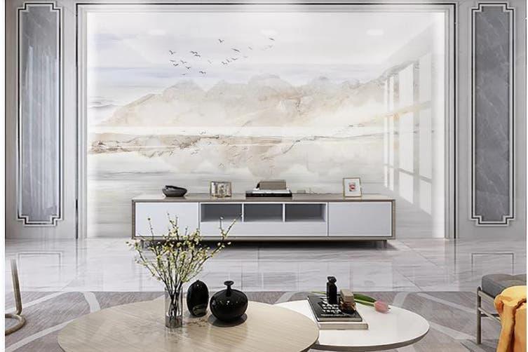 3D Marble Decorative Beautiful Floral Wall Mural Wallpaper  D49 Self-adhesive Laminated Vinyl-W: 210cm X H: 146cm