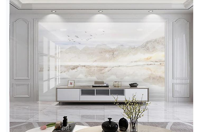 3D Marble Decorative Beautiful Floral Wall Mural Wallpaper  D49 Self-adhesive Laminated Vinyl-W: 420cm X H: 260cm