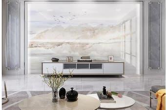 3D Marble Decorative Beautiful Floral Wall Mural Wallpaper  D49 Self-adhesive Laminated Vinyl-W: 525cm X H: 295cm
