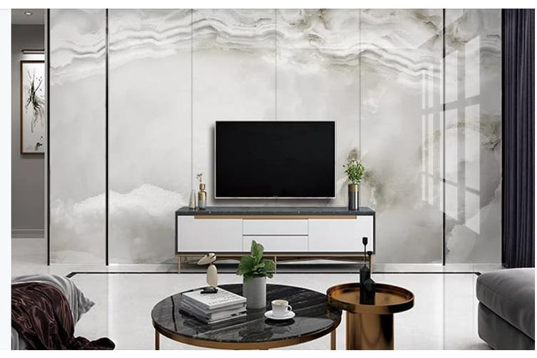 3D Marble Decorative Beautiful Floral Wall Mural Wallpaper  D48 Self-adhesive Laminated Vinyl-W: 320cm X H: 225cm