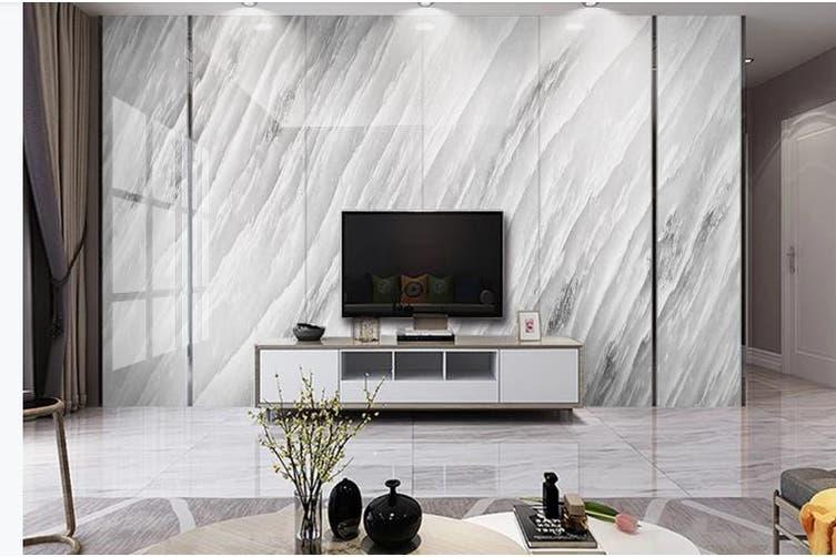 3D Marble Decorative Beautiful Floral Wall Mural Wallpaper  D46 Self-adhesive Laminated Vinyl-W: 320cm X H: 225cm