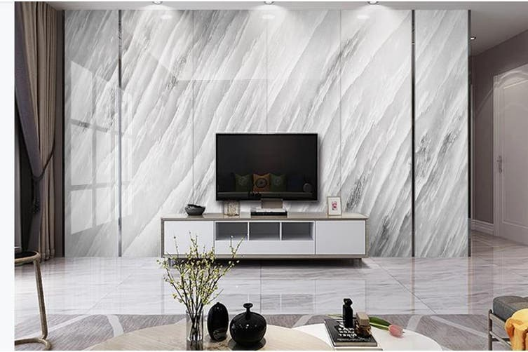 3D Marble Decorative Beautiful Floral Wall Mural Wallpaper  D46 Self-adhesive Laminated Vinyl-W: 525cm X H: 295cm