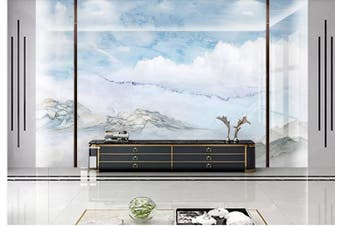 3D Marble Decorative Beautiful Floral Wall Mural Wallpaper  D45 Self-adhesive Laminated Vinyl-W: 210cm X H: 146cm