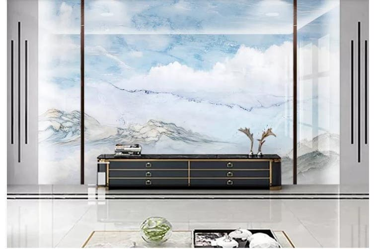 3D Marble Decorative Beautiful Floral Wall Mural Wallpaper  D45 Self-adhesive Laminated Vinyl-W: 420cm X H: 260cm