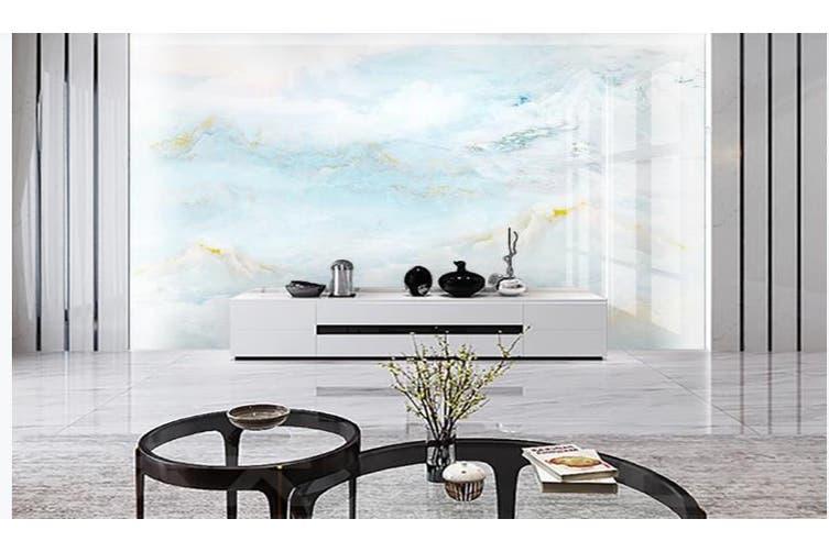 3D Marble Decorative Beautiful Floral Wall Mural Wallpaper  D44 Self-adhesive Laminated Vinyl-W: 210cm X H: 146cm