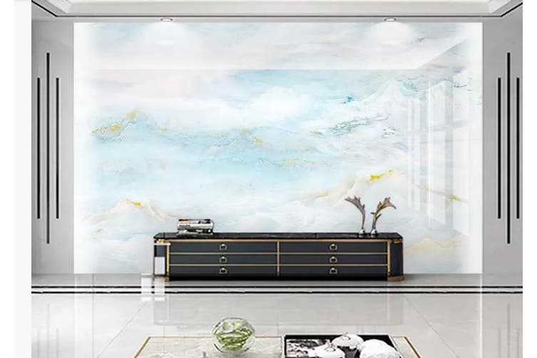 3D Marble Decorative Beautiful Floral Wall Mural Wallpaper  D44 Self-adhesive Laminated Vinyl-W: 525cm X H: 295cm