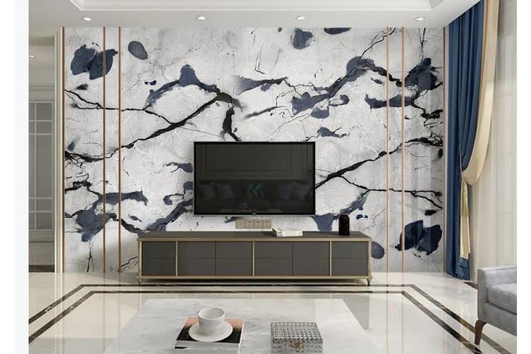 3D Marble Decorative Beautiful Floral Wall Mural Wallpaper  D43 Self-adhesive Laminated Vinyl-W: 420cm X H: 260cm