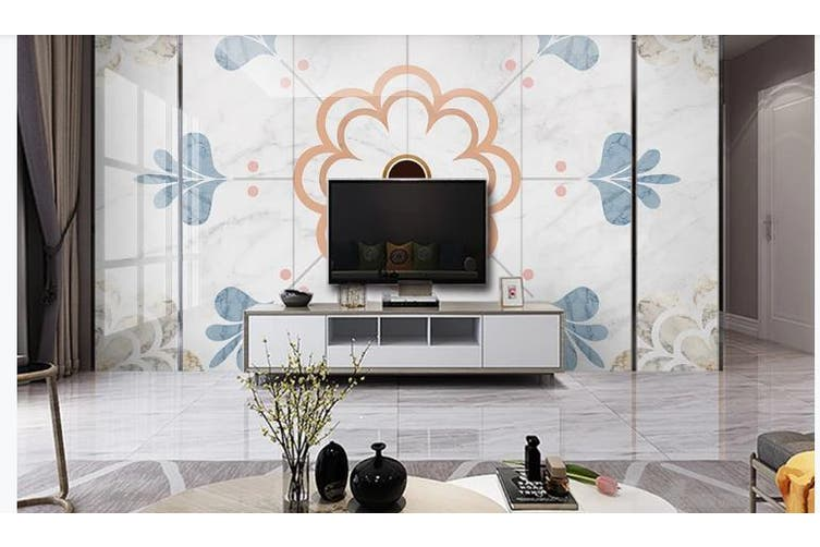 3D Marble DecorativeGeometry Graphical Wall Mural Wallpaper  D42 Self-adhesive Laminated Vinyl-W: 320cm X H: 225cm