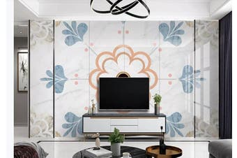 3D Marble DecorativeGeometry Graphical Wall Mural Wallpaper  D42 Self-adhesive Laminated Vinyl-W: 420cm X H: 260cm